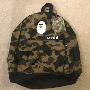 Bape Camo Backpack NWT